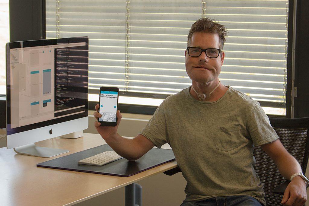Erwin Oudshoorn bouwt iPhone app vanwege eigen spraakprobleem
